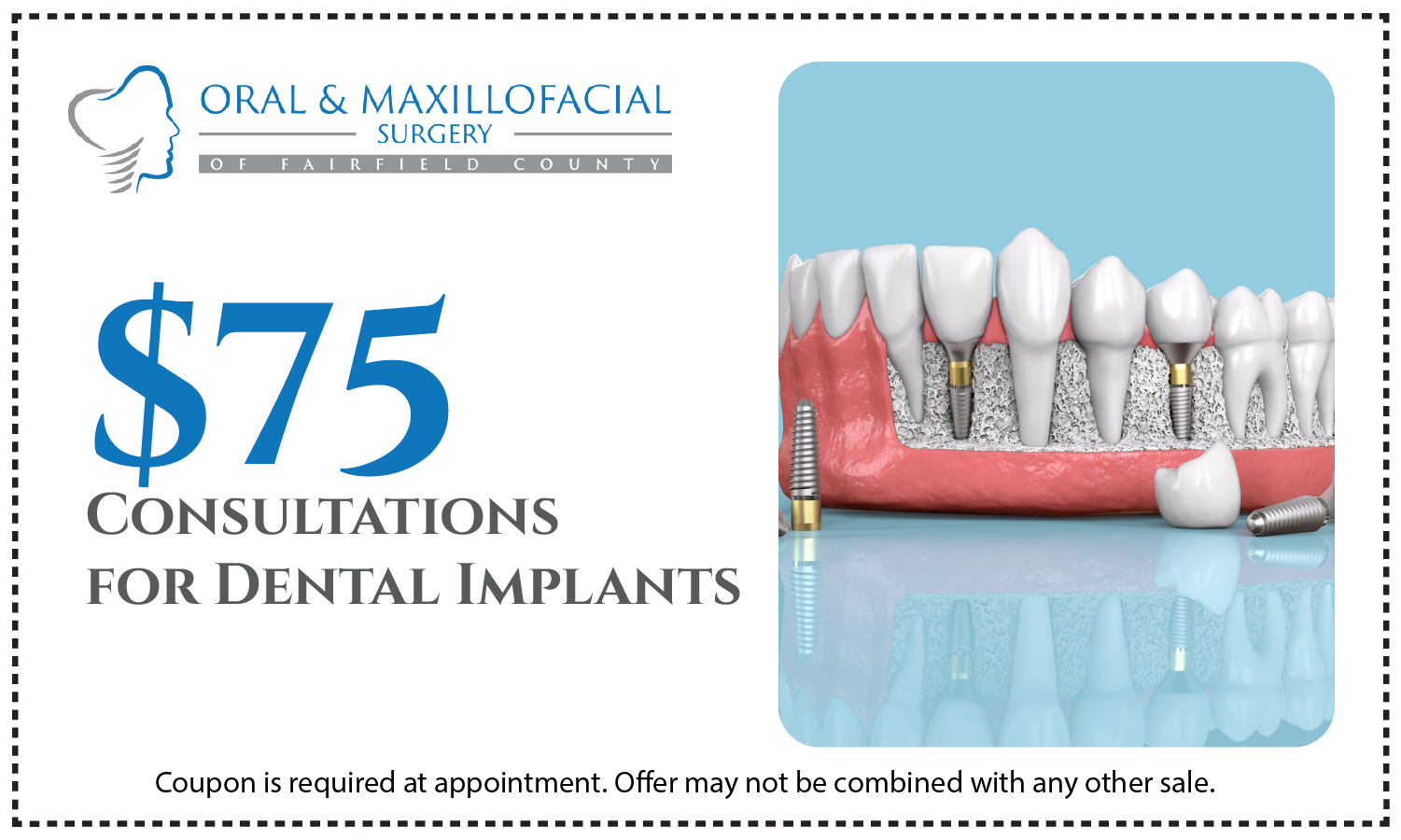 coupon for a dental implant consultation